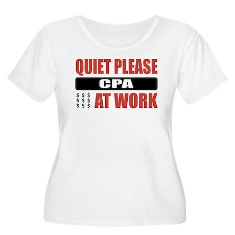 CPA Work Women's Plus Size Scoop Neck T-Shirt