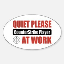 CounterStrike Player Work Oval Decal