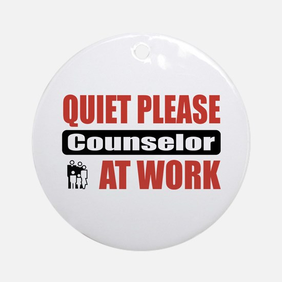 Counselor Work Ornament (Round)