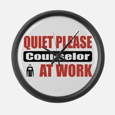 Counselor Work Large Wall Clock