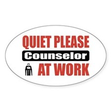 Counselor Work Oval Decal