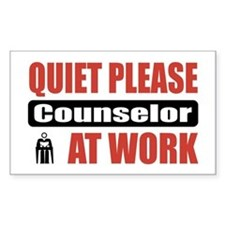 Counselor Work Rectangle Decal