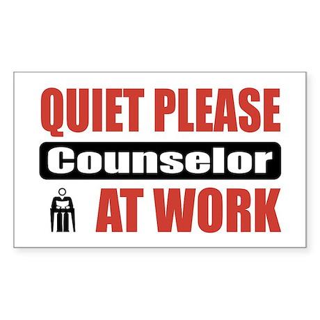 Counselor Work Rectangle Sticker