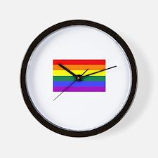 Gay Pride Rainbow Flag T-Shir Wall Clock