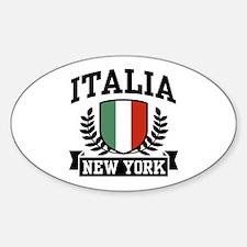 Italia New York Oval Decal