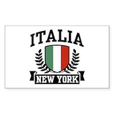 Italia New York Rectangle Decal