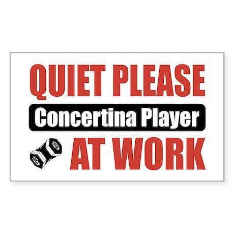 Concertina Player Work Rectangle Sticker 10 pk)