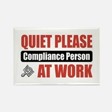 Compliance Person Work Rectangle Magnet