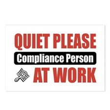 Compliance Person Work Postcards (Package of 8)