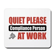 Compliance Person Work Mousepad