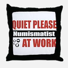 Numismatist Work Throw Pillow