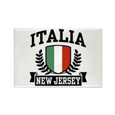 Italia New Jersey Rectangle Magnet