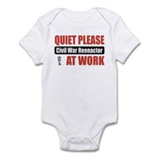 Civil War Reenactor Work Infant Bodysuit