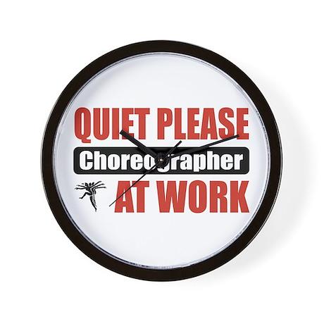 Choreographer Work Wall Clock