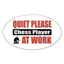 Chess Player Work Oval Decal