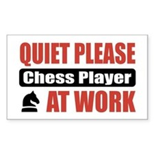 Chess Player Work Rectangle Decal