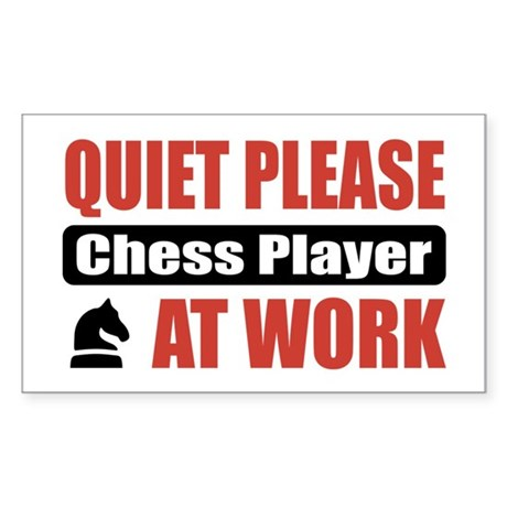 Chess Player Work Rectangle Sticker 10 pk)