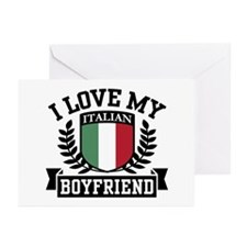 I Love My Italian Boyfriend Greeting Cards (Pk of
