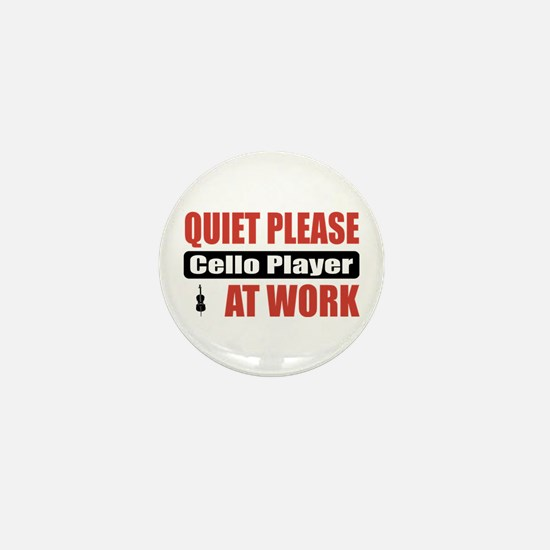 Cello Player Work Mini Button