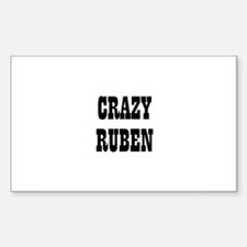 CRAZY RUBEN Rectangle Decal