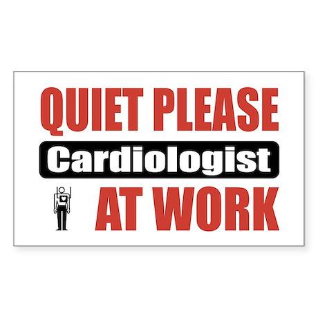 Cardiologist Work Rectangle Sticker