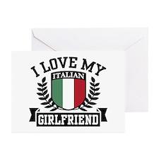 I Love My Italian Girlfriend Greeting Cards (Pk of