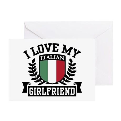 I Love My Italian Girlfriend Greeting Cards (Pk of