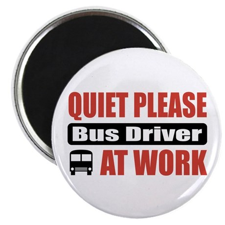 """Bus Driver Work 2.25"""" Magnet (100 pack)"""