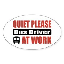 Bus Driver Work Oval Decal