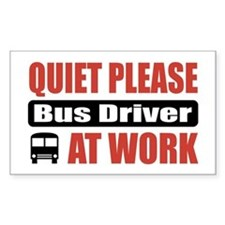 Bus Driver Work Rectangle Decal