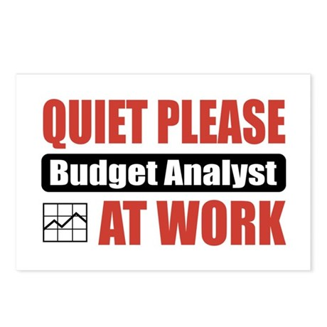Budget Analyst Work Postcards (Package of 8)