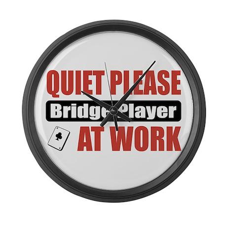 Bridge Player Work Large Wall Clock