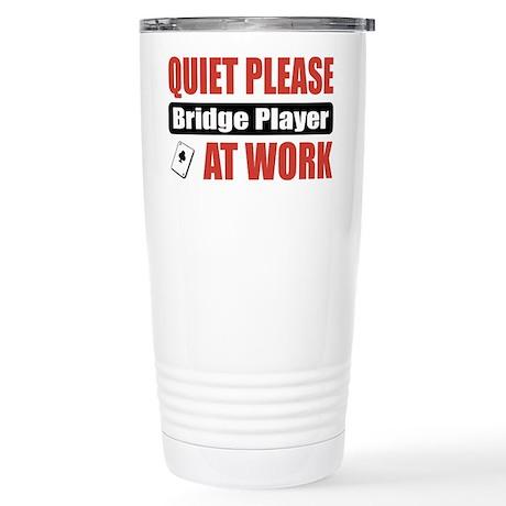 Bridge Player Work Stainless Steel Travel Mug