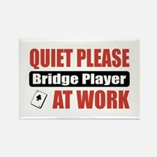 Bridge Player Work Rectangle Magnet