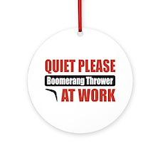 Boomerang Thrower Work Ornament (Round)
