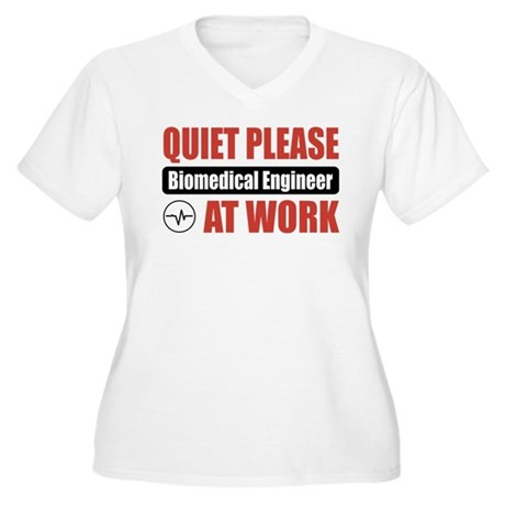 Biomedical Engineer Work Women's Plus Size V-Neck