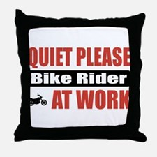 Bike Rider Work Throw Pillow