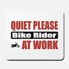 Bike Rider Work Mousepad