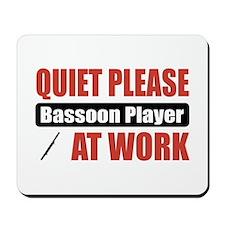 Bassoon Player Work Mousepad