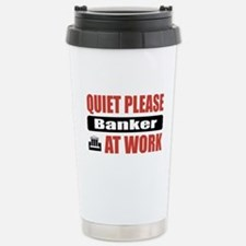 Banker Work Stainless Steel Travel Mug