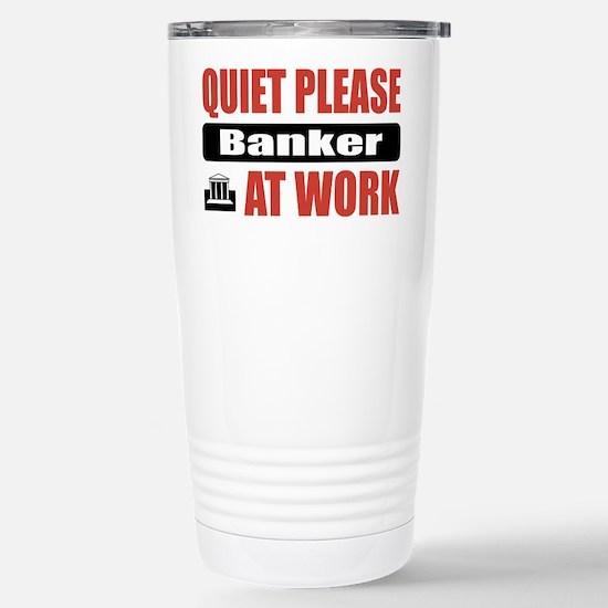 Banker Work Stainless Steel Travel Mug