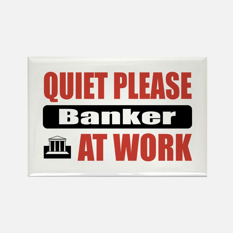 Banker Work Rectangle Magnet
