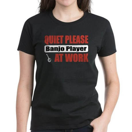 Banjo Player Work Women's Dark T-Shirt