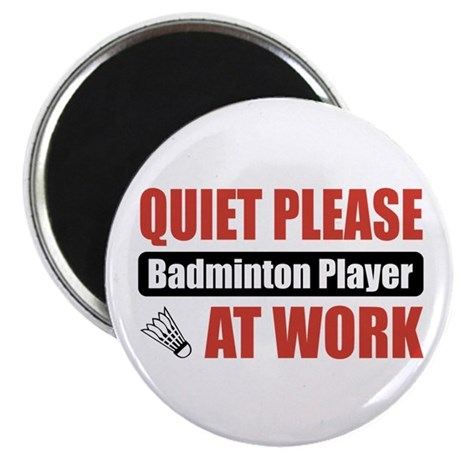 Badminton Player Work Magnet