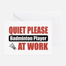 Badminton Player Work Greeting Cards (Pk of 10)