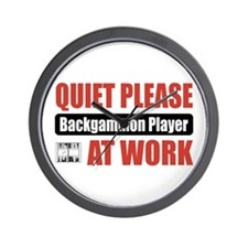 Backgammon Player Work Wall Clock