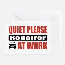 Repairer Work Greeting Card
