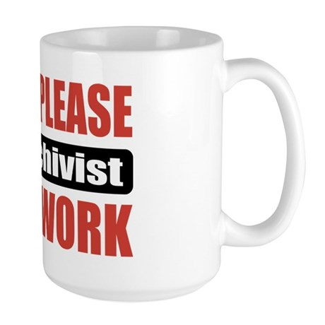 AV Archivist Work Large Mug