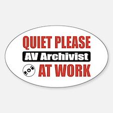 AV Archivist Work Oval Decal