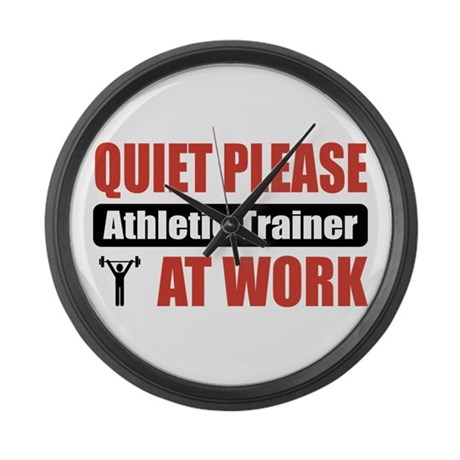 Athletic Trainer Work Large Wall Clock
